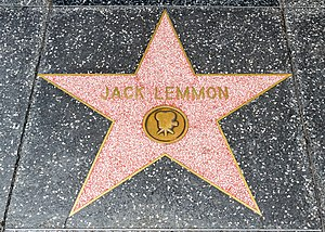 Jack Lemmon - Lemmon's Star at the Hollywood Walk of Fame, Los Angeles, California, USA July 19, 2012