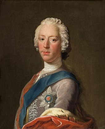 Charles Edward Stuart, late 1745; note similarities to that of Louis XV, right Lost Portrait of Charles Edward Stuart.jpg