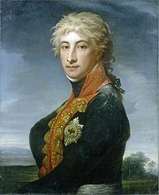 Louis Ferdinand Prince of Prussia (1772-1806), portrait by Jean-Laurent Mosnier, 1799