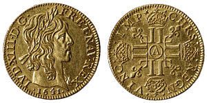 http://upload.wikimedia.org/wikipedia/commons/thumb/b/bd/Louis_XIII_Gold.jpg/300px-Louis_XIII_Gold.jpg
