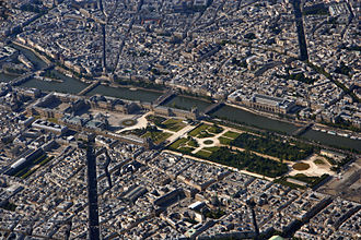 1st arrondissement of Paris - The Louvre and Tuileries, seen from the north