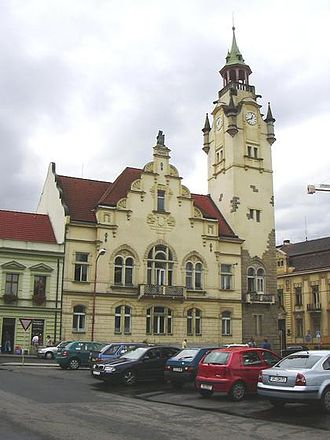 Lovosice - The tower in Lovosice downtown.
