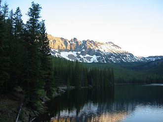 Strawberry Range - Lower Strawberry Lake with the Palisades in the background