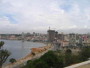 O centro da capital de Angola, Luanda.