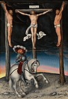 Lucas Cranach the Elder  - The Crucifixion with the Converted Captain (National Gallery of Art) .jpg