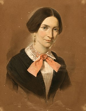 Ludmilla Assing - Self portrait in pastels from around 1850