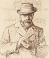 Ludwig Michalek - Selbstportraet - Radierung - 1899 Detail.png
