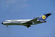 Lufthansa-branded Boeing 727