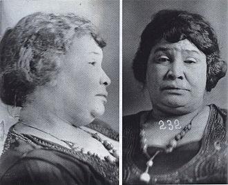 Lulu White - New Orleans Police Department mug shot of Lulu White, 1920