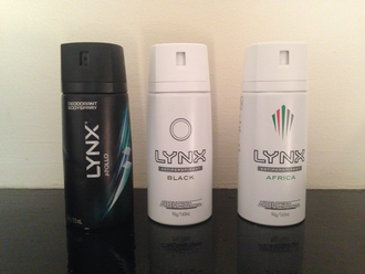 Axe (brand) - Lynx Deodorants; Apollo, Black and Africa