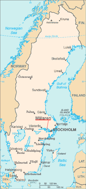 Mälaren - Location map