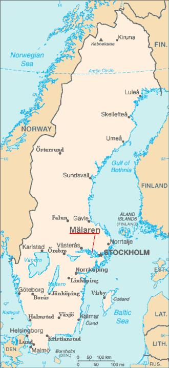 Mälaren - Location map