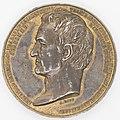 """Médaille en plomb doré """"Doyen des associés de l'institut de France"""" par A. BOVY 1769 Avers.jpg"""