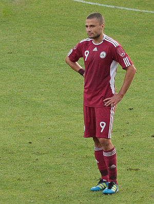 Māris Verpakovskis - Verpakovskis playing for Latvia in 2011