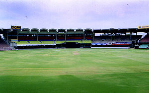 The turf at MAC Cricket Stadium (Chepauk), Che...