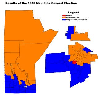 Manitoba general election, 1986 - Image: MB1986