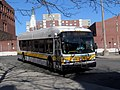 MBTA route 104 bus at Malden Center station, April 2017.JPG