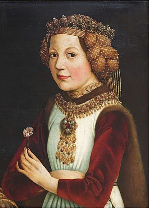 Magdalena of France - Madeleine of France, as betrothed of Ladislaus the Posthumous, ca 1457