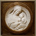 Madonna and Child, workshop of Benedetto da Maiano (Benedetto di Leonardo d'Antonio), Italy, 1490s, marble - Chazen Museum of Art - DSC02005.JPG