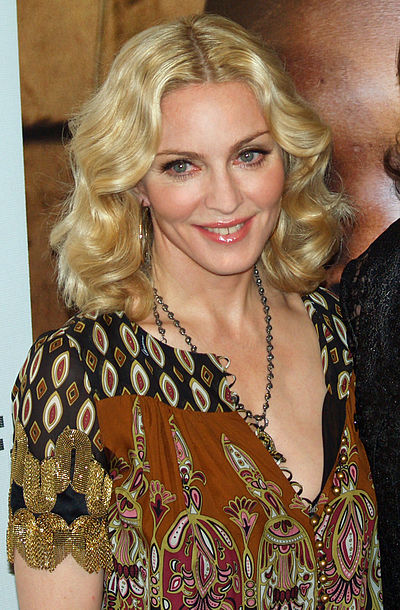 Madonna at the premiere of I Am Because We Are in 2008.