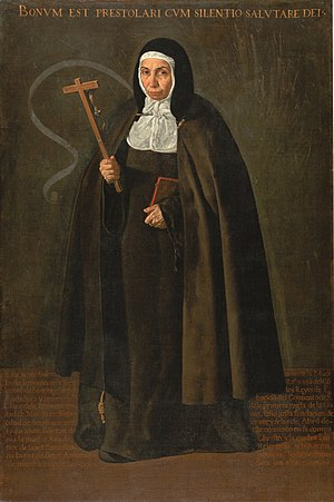 Poor Clares - Mother Jeronima of the Assumption, P.C.C., by Diego Velázquez (1620)