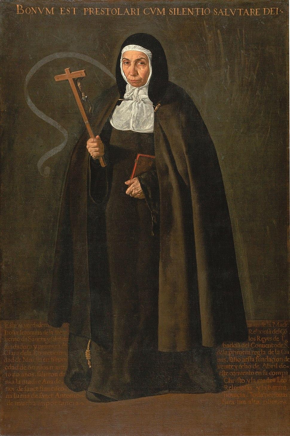 Madre Jerónima de la Fuente, by Diego Velázquez