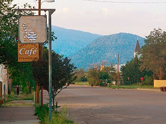 Magdalena, New Mexico - Main Street in Magdalena, 2007