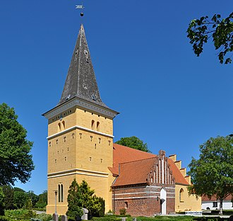 Magleby, Stevns Municipality - The church in Magleby