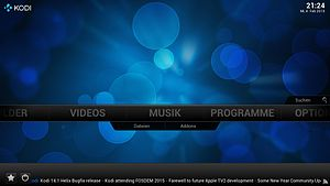 10-foot user interface - Kodi is an example of home theater PC software, which is designed to be displayed on a TV. It can be controlled using a remote, a game controller, or a keyboard.