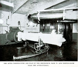 USS Maine (ACR-1) - Aft torpedo tubes of Maine