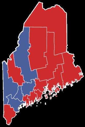 United States Senate election in Maine, 1996 - Image: Mainegovelection 1990