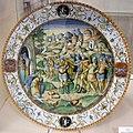 Maiolica di urbino, orazio fontana, abramo e il re di sodoma, 1550 ca.jpg