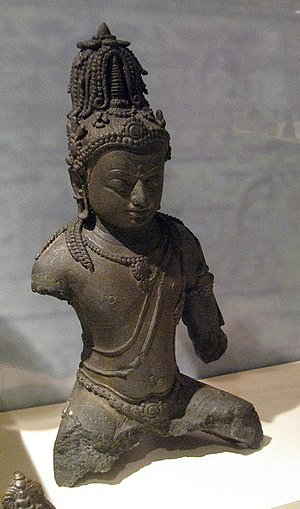 Buddhism in Southeast Asia - A bronze Maitreya statue from Komering, South Sumatra, 9th century Srivijayan art.