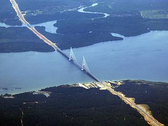 Sungai Johor Bridge - Image: Malaysia Sungai Johor Bridge