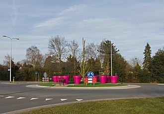 Malden, Netherlands - Roundabout near de Grootveldschelaan