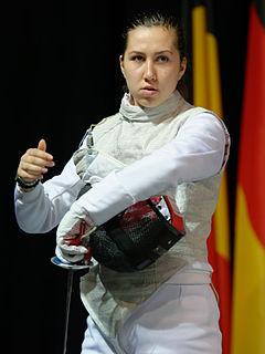 Mălina Călugăreanu Romanian fencer