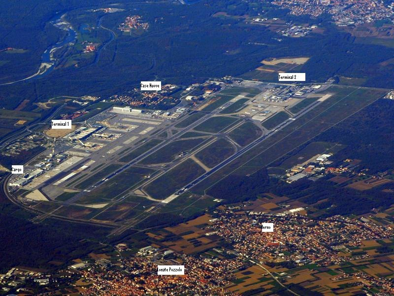 Malpensa International Airport labeled