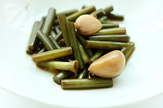 Jangajji Type of Korean non-fermented pickled vegetable side dish