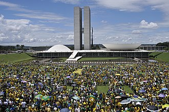 2015–16 protests in Brazil - Demonstration in front of the National Congress.