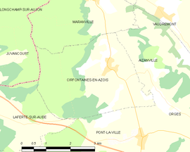 Mapa obce Cirfontaines-en-Azois