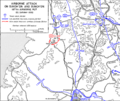 Map of 187 RCT airborne attack on Sukchon and Sunchon 20 Oct 1950.png