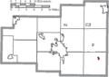 Map of Allen County Ohio Highlighting Harrod Village.png
