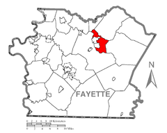 Map of Connellsville Township, Fayette County, Pennsylvania Highlighted.png