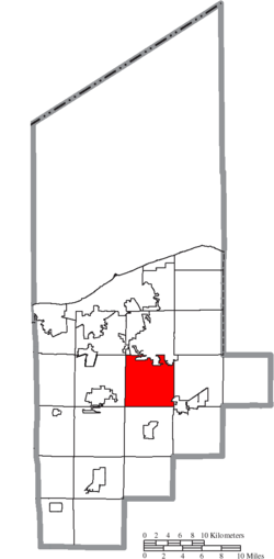 Location of Carlisle Township in Lorain County