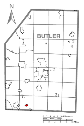 Map of Mars, Butler County, Pennsylvania Highlighted.png