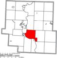 Map of Muskingum County Ohio Highlighting Wayne Township.png
