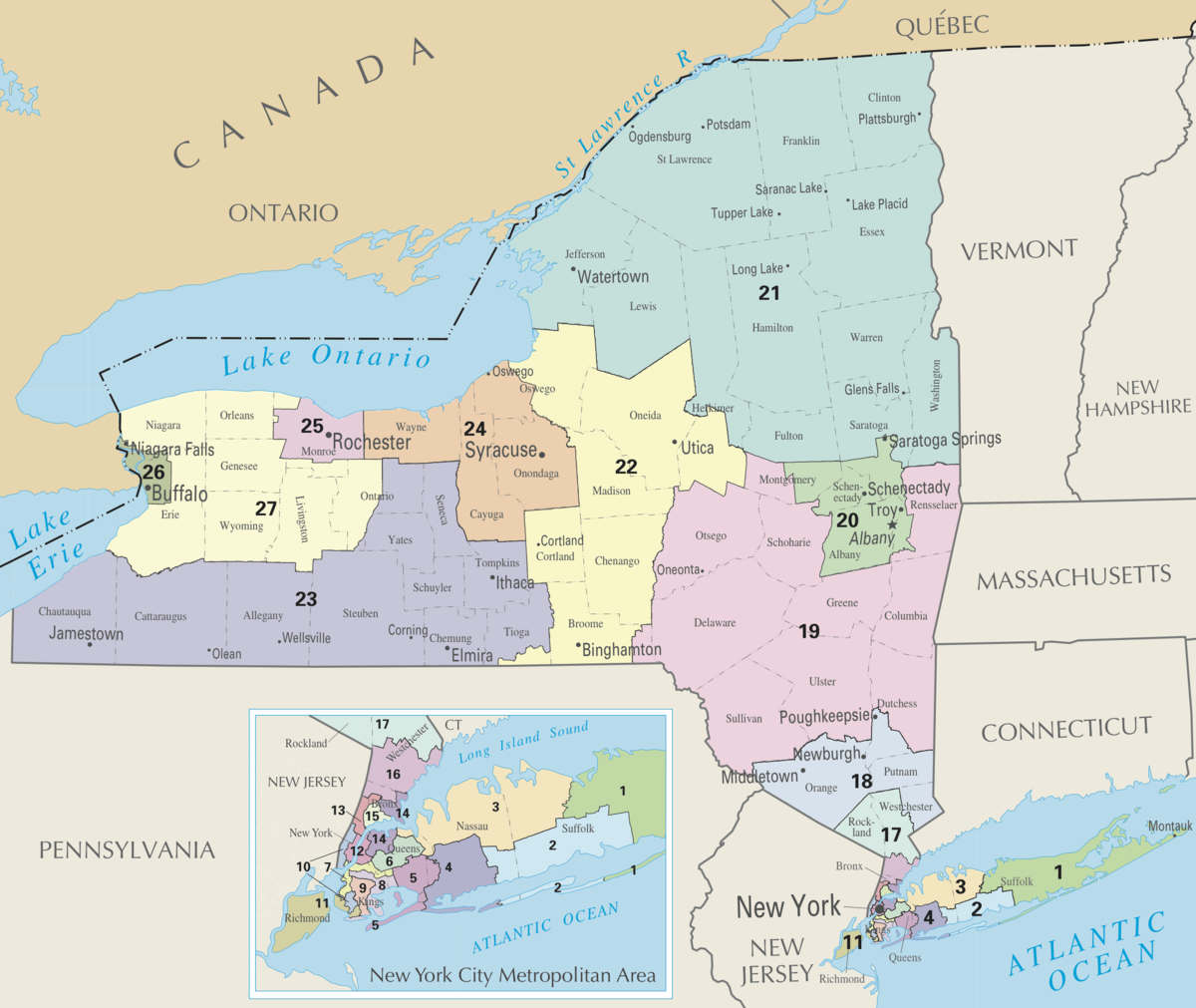 New York39s Congressional Districts  Wikipedia