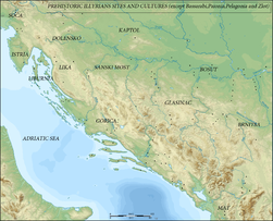 Map of Prehistoric Sites & Cultures Illyrian v2 (English).png