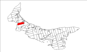 Lot 13, Prince Edward Island - Image: Map of Prince Edward Island highlighting Lot 13