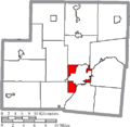 Map of Shelby County Ohio Highlighting Clinton Township.png